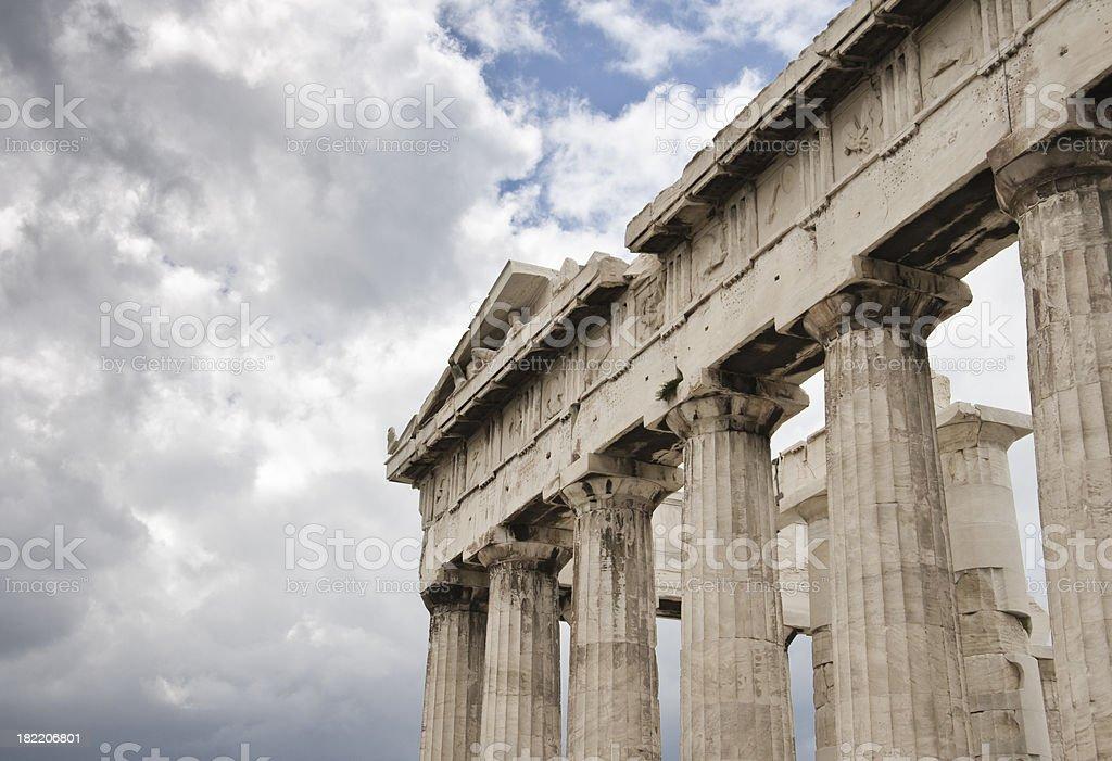 Parthenon Collonade royalty-free stock photo