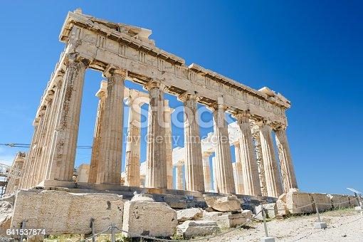 istock Parthenon columns at sky background 641537874