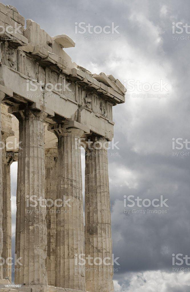 Parthenon Corner royalty-free stock photo