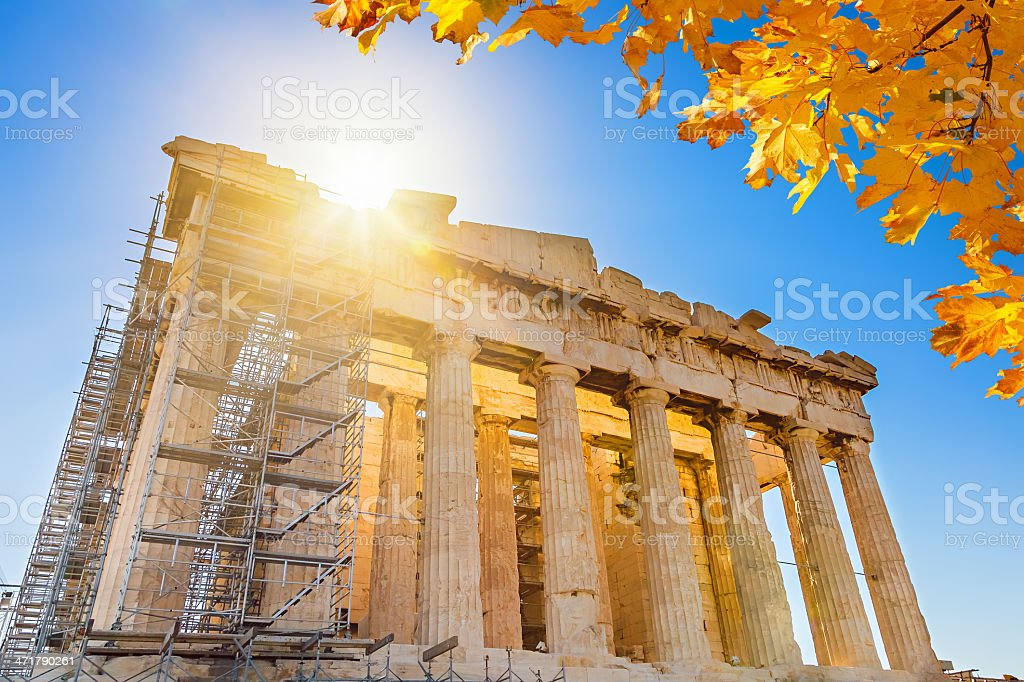 Parthenon in Acropolis, Athens stock photo