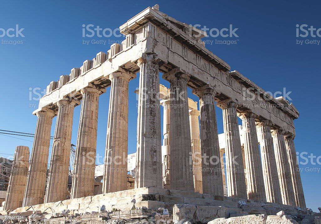 Parthenon in Acropolis royalty-free stock photo