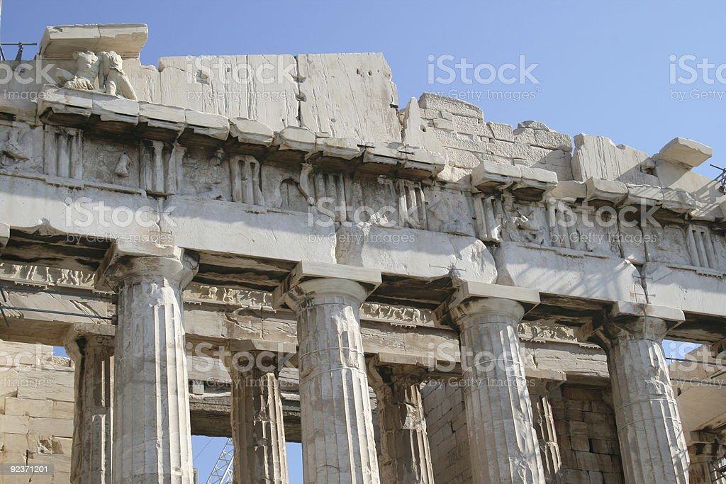 Parthenon in Athens Greece royalty-free stock photo