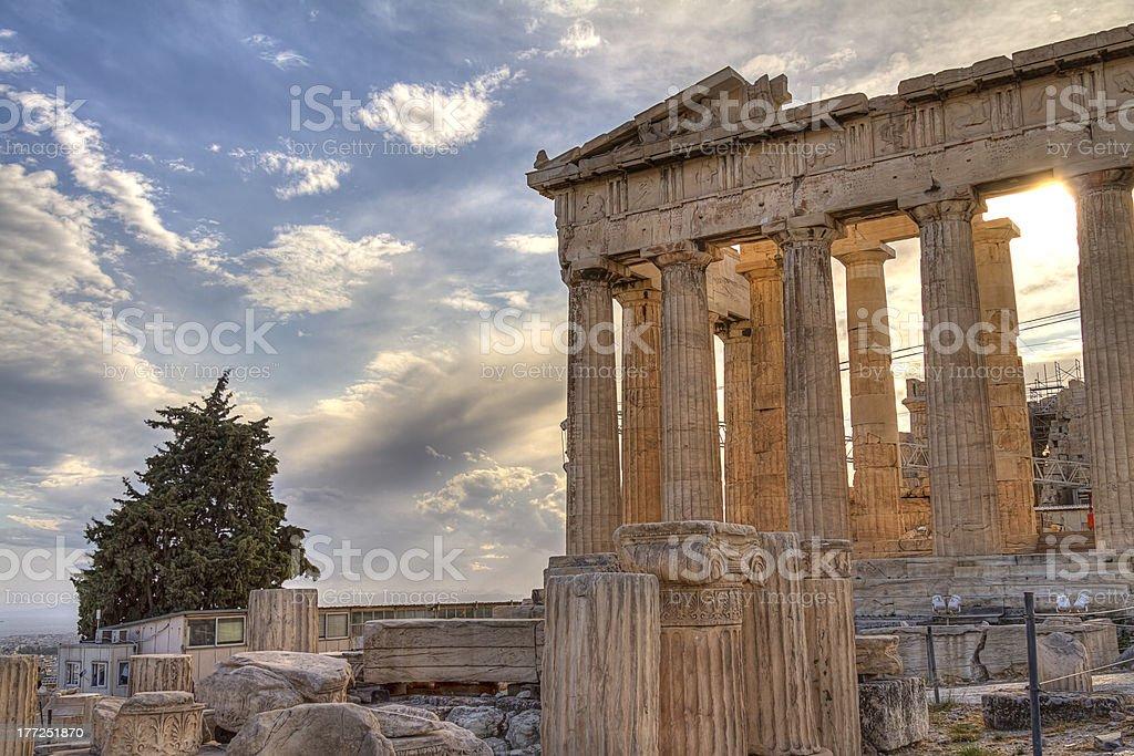 Parthenon in Athens stock photo