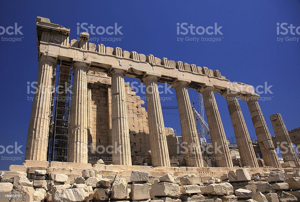 Parthenon in Greece stock photo