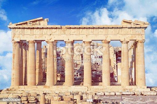 istock Parthenon on the Acropolis in Athens 639205304