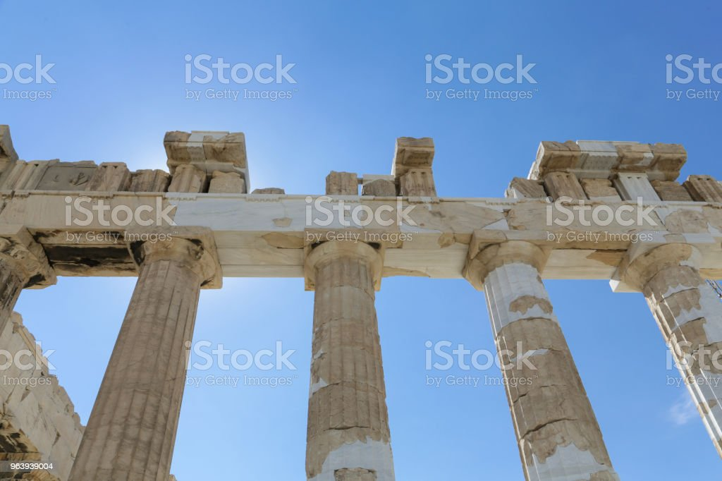 パルテノン神殿には、アクロポリス - アテナイのアクロポリスのロイヤリティフリーストックフォト