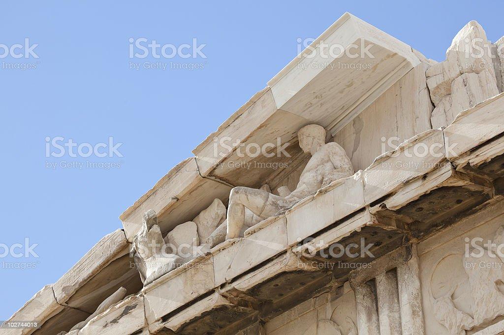 Parthenon, part of the east pediment royalty-free stock photo