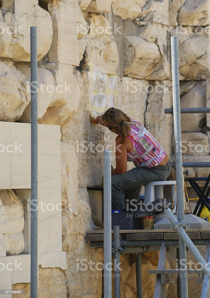 Parthenon restoration royalty-free stock photo