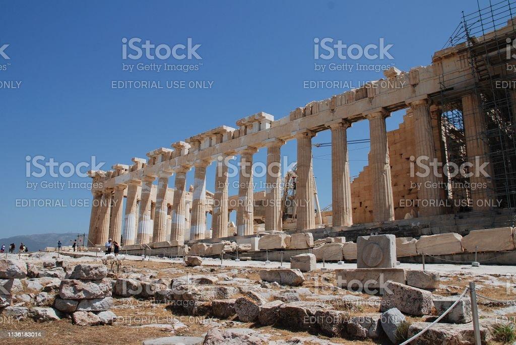 Parthenon temple, Athens stock photo