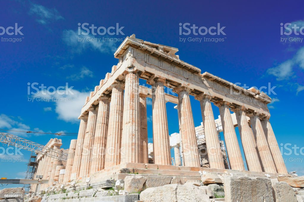 Parthenon temple, Athens stock photo