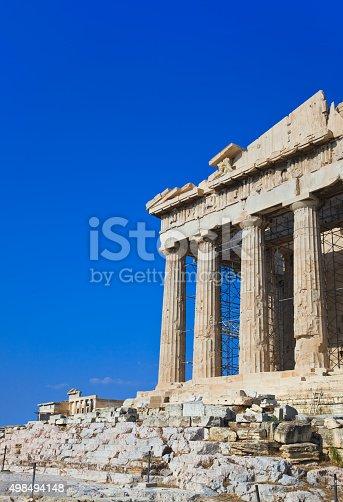 istock Parthenon temple in Acropolis at Athens, Greece 498494148