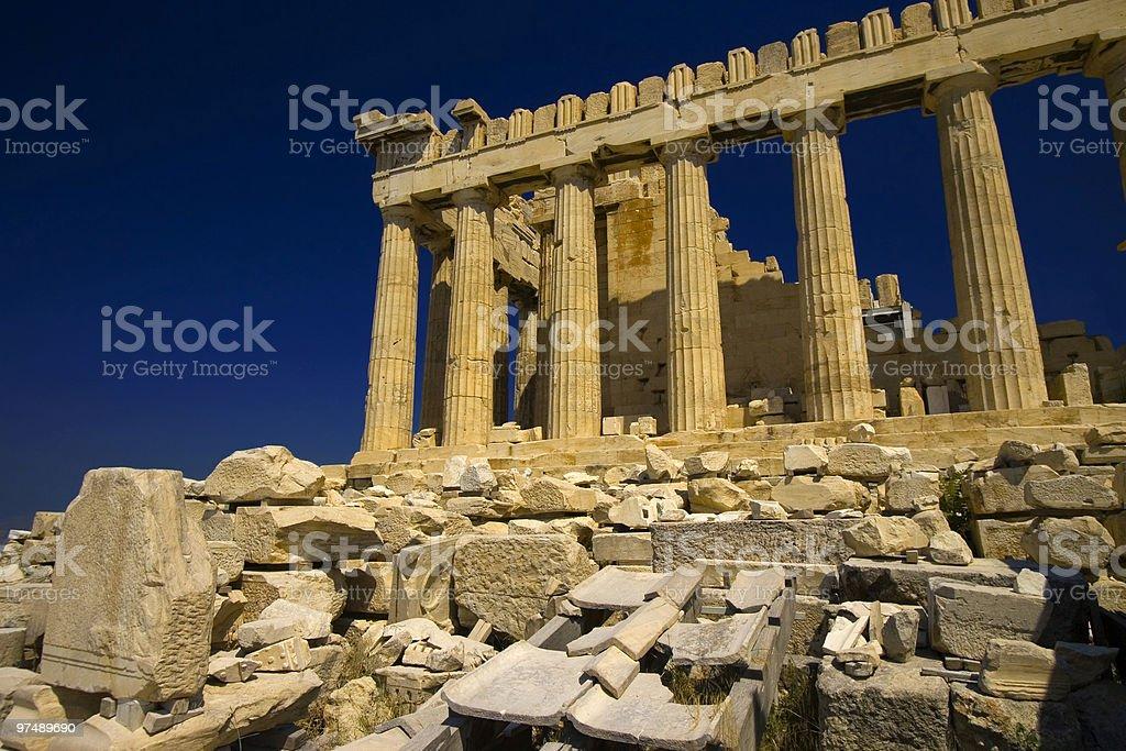 Parthenon, The Temple of Athena stock photo