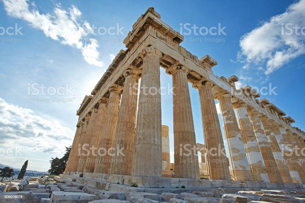 Parthenonas in Akropolis, Athens,Greece stock photo