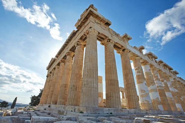 parthenonas in akropolis, athens,greece - демократия стоковые фото и изображения