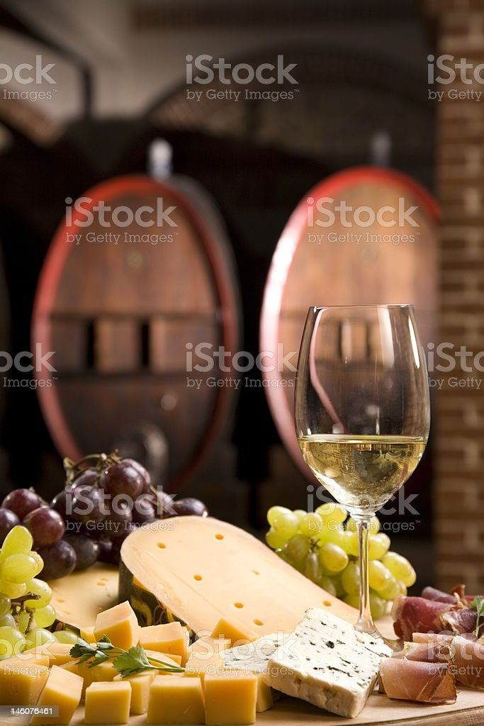 Parti in the old cellar royalty-free stock photo