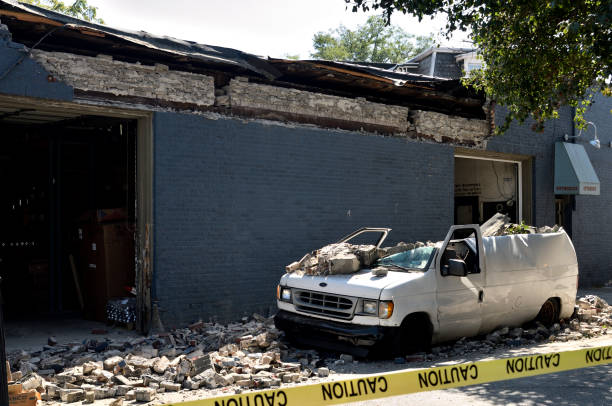 Partial Building Collapse in Philadelphia, PA stock photo