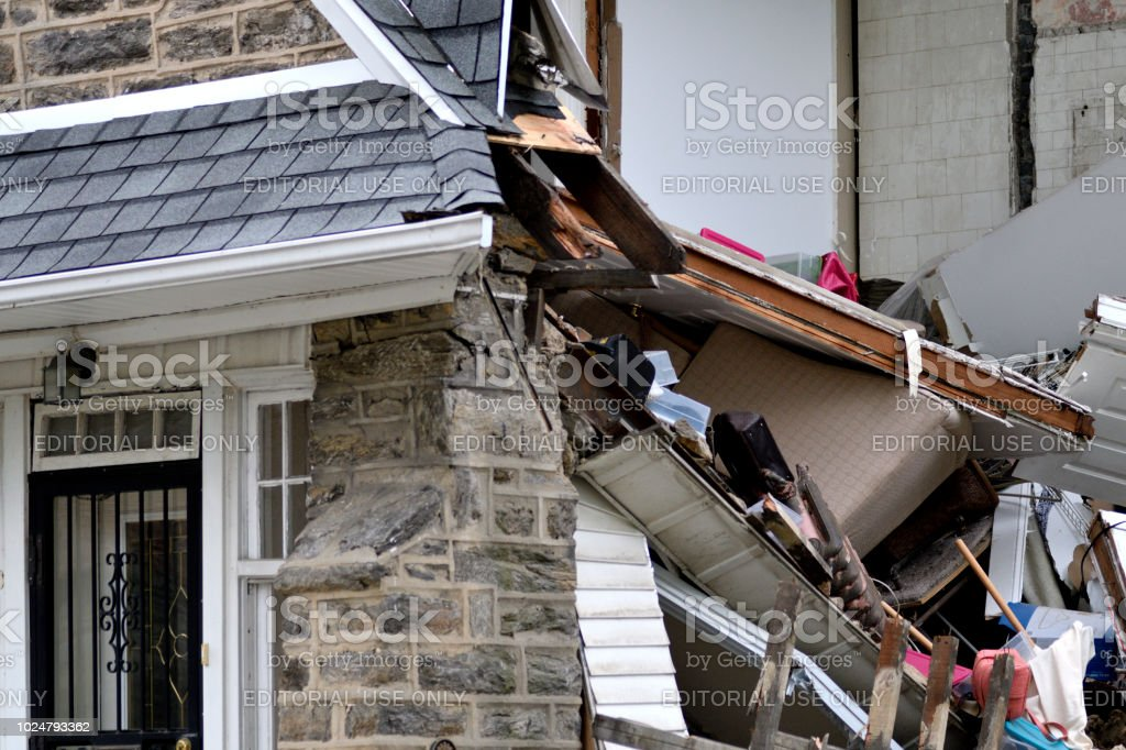 Partial House Collapse In Philadelphia Pa Stock Photo & More