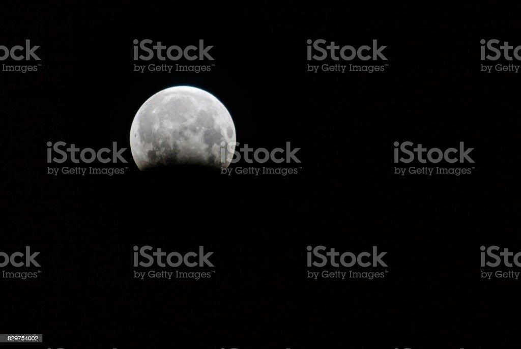 Partial Lunar Eclipse stock photo