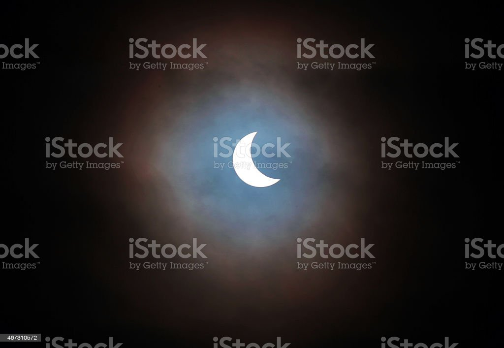 Partial Solar Eclipse - Royalty-free 2015 Stock Photo