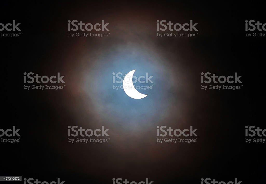 Partial Solar Eclipse stock photo