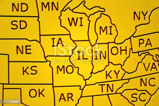 istock Partial United States Map 117236357