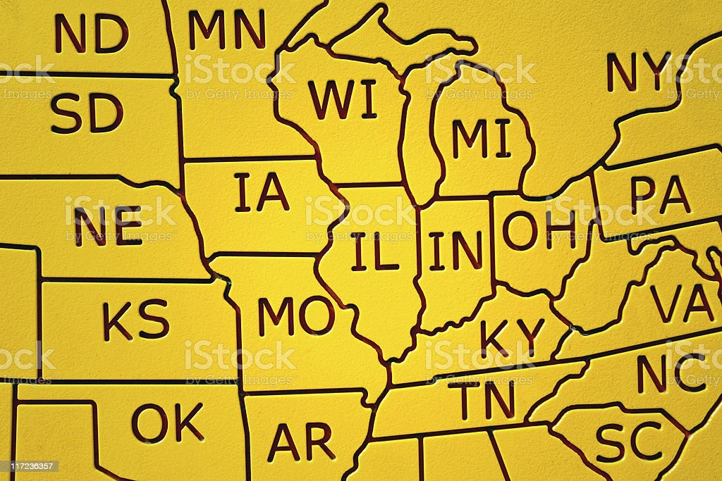 Partial United States Map stock photo