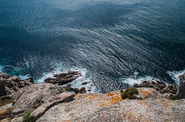 Partial view of Finisterre, from the cliff stock photo