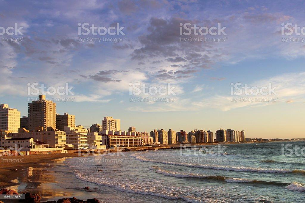 Partial view of Punta Del Este, Uruguay stock photo