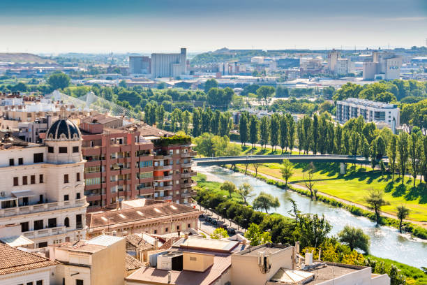 partial view of the city of lleida. catalonia spain - lleida стоковые фото и изображения