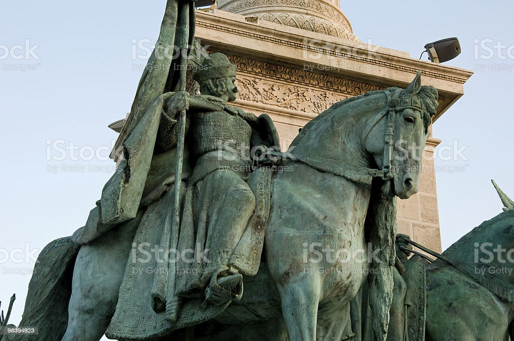 Partial view of the Heroes Square in Budapest royalty-free stock photo