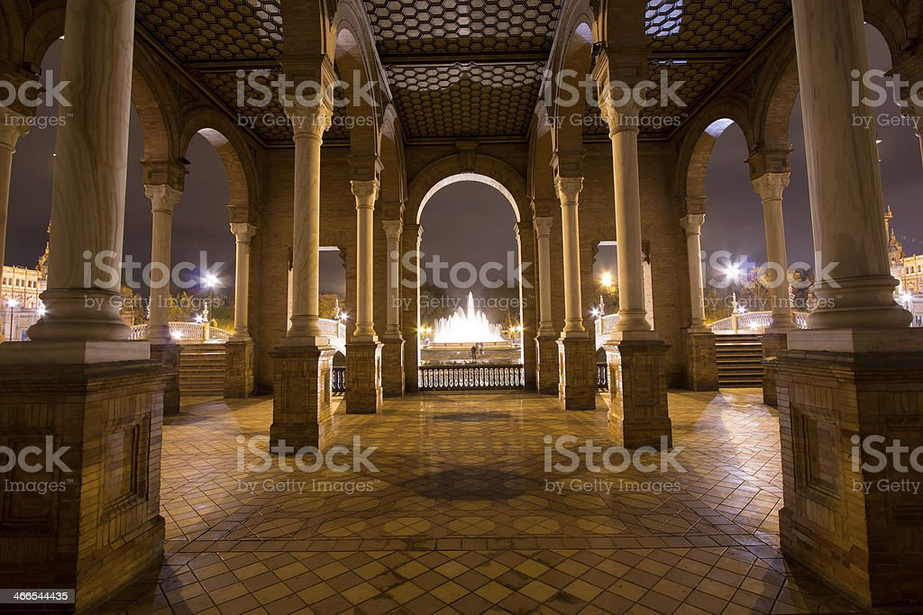 Partial view of the Plaza de Espana royalty-free stock photo