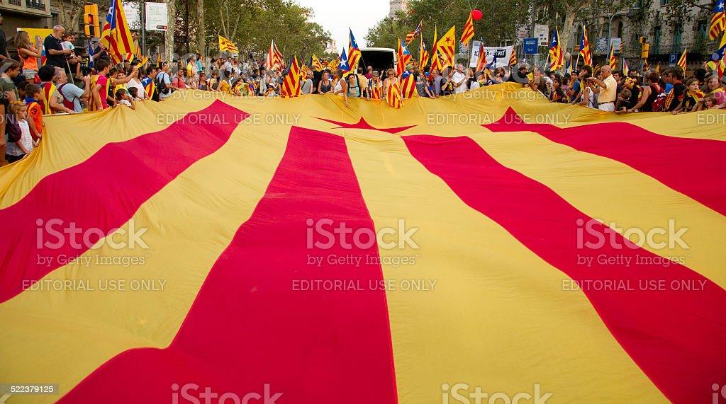 Teilnehmer in der Versammlung für die Unabhängigkeit Kataloniens – Foto