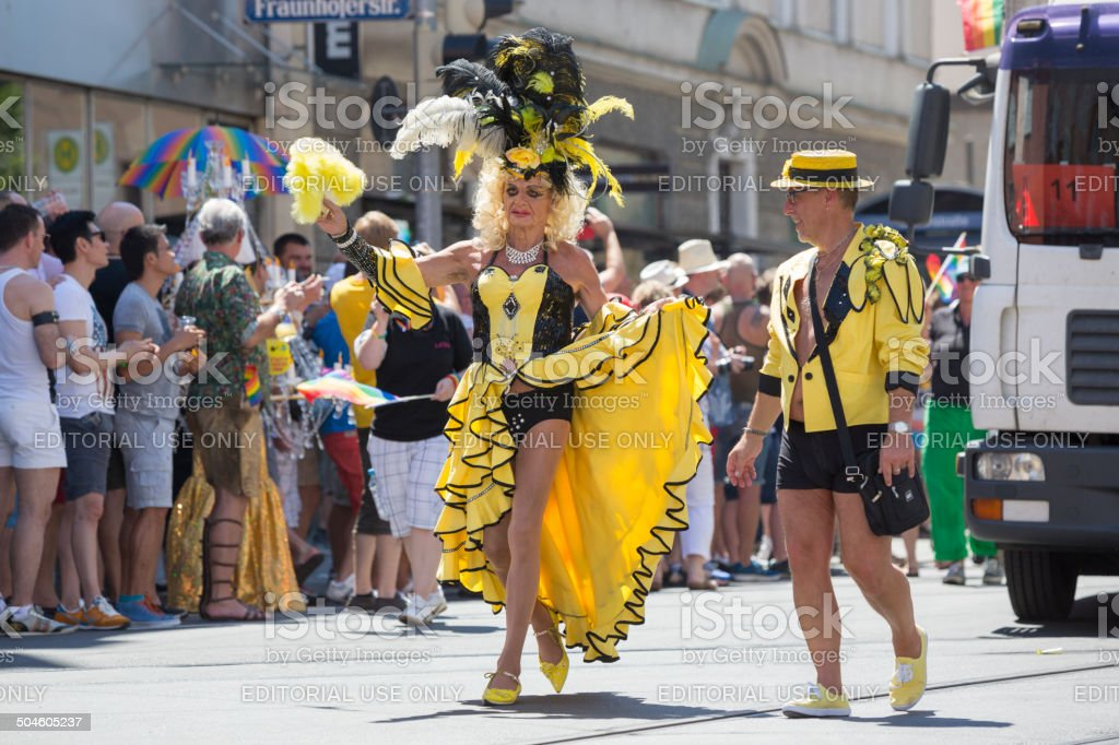 Participants of Christopher Street Day, Munich, Germany royalty-free stock photo