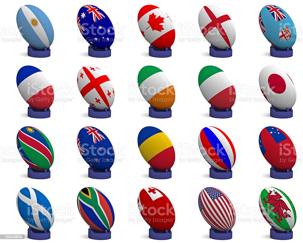 Participating teams of the Rugby World Cup 2011 royalty-free stock photo