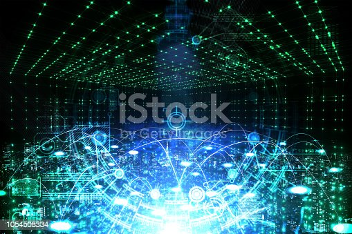 istock Particle string city 1054508334