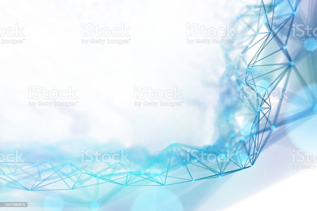 Particle string idea stock photo