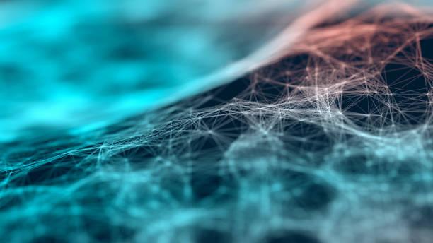 Partikel-Webhintergrund – Foto