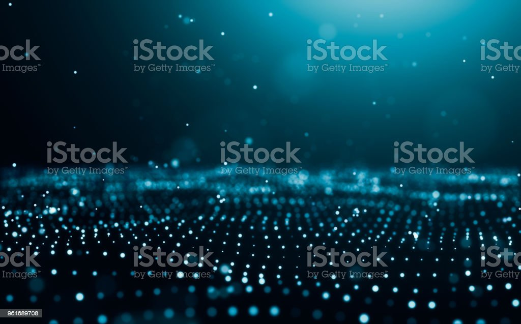 Particles background with depth of field royalty-free stock photo