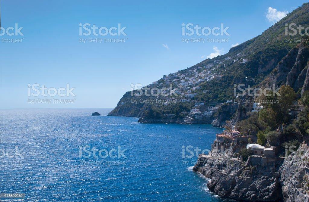 Particular landscape Amalfi peninsula view from south photo libre de droits