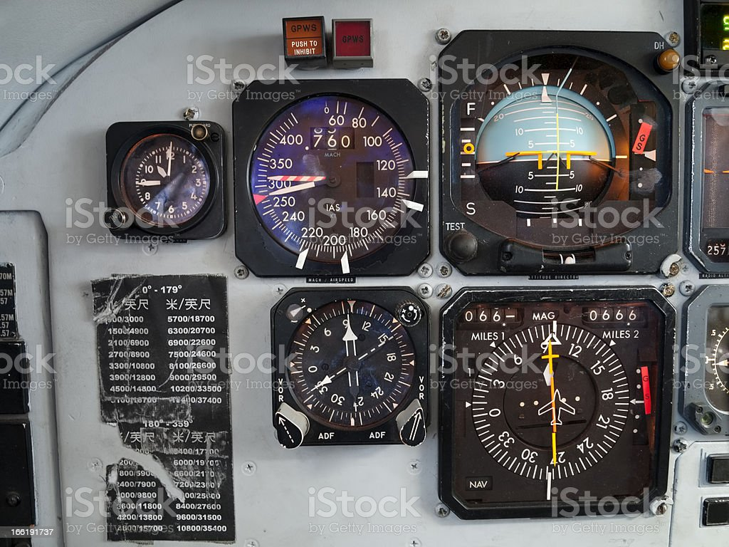 Particular of an old airplane royalty-free stock photo