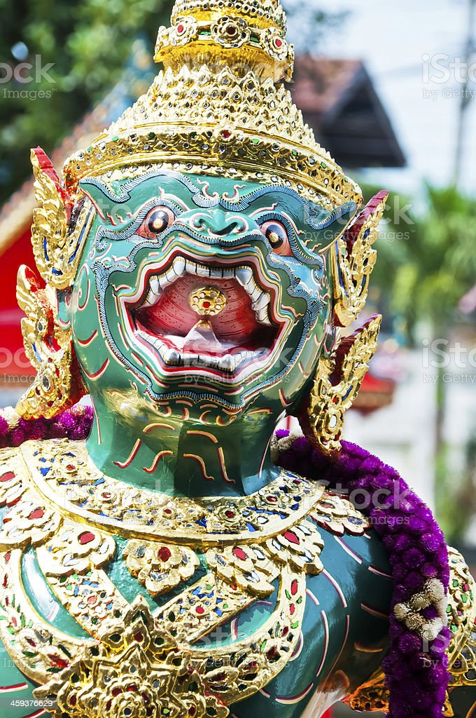 Particular of the Thai Royal Barge in Bangkok, Thailand. A royal...