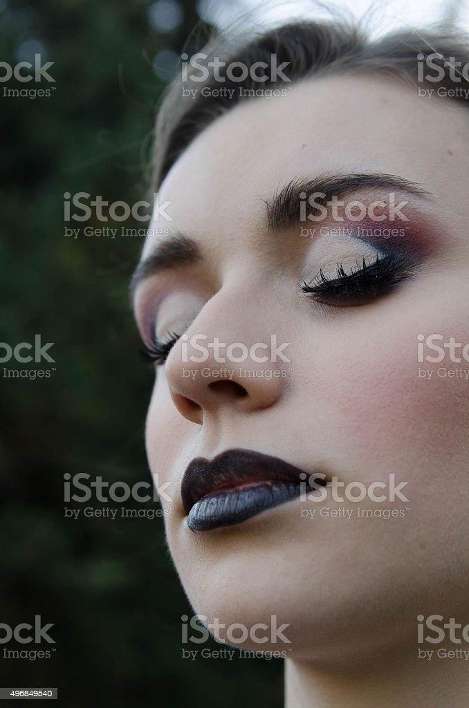 particular portrait stock photo