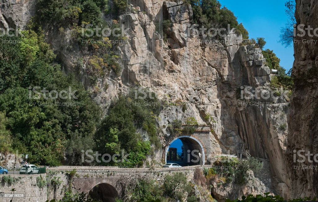 Particular tunnel of the Praiano royalty-free stock photo