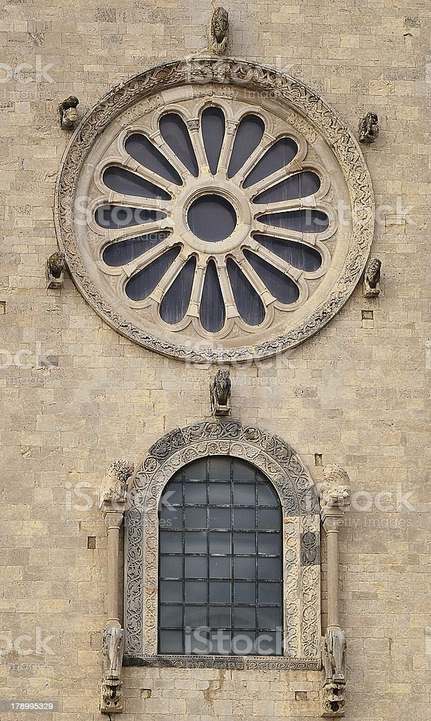 particular view the magnificent cathedral of Trani royalty-free stock photo