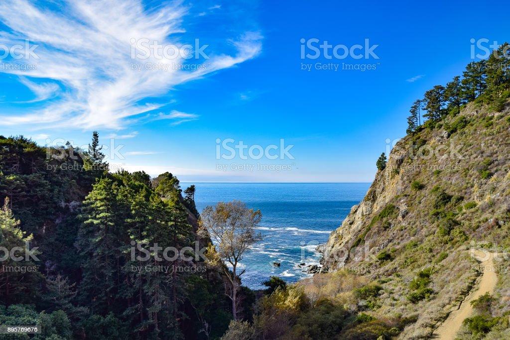 Partington Cove Hiking Trail at Big Sur stock photo