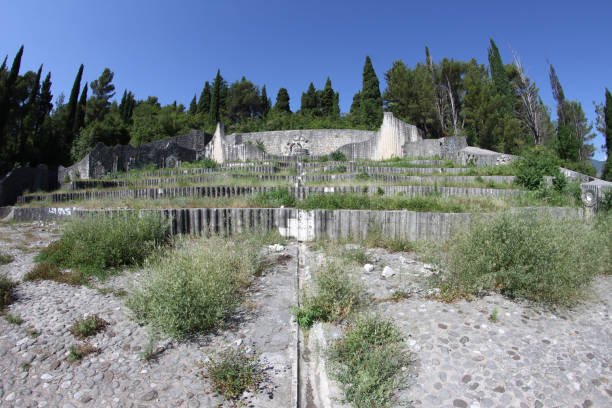 Partisan Memorial Cemetery in Mostar stock photo