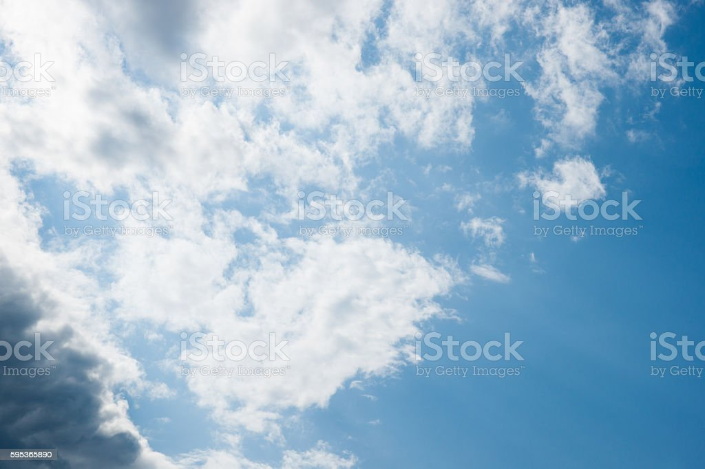 Partly cloudy sky stock photo