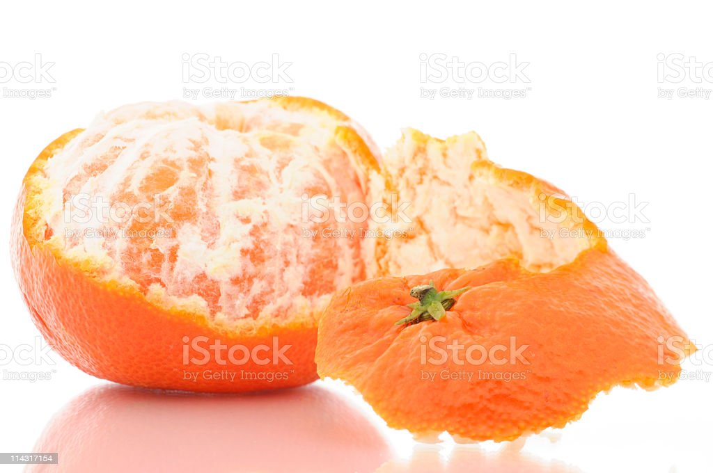 Partly Peeled Tangerine royalty-free stock photo