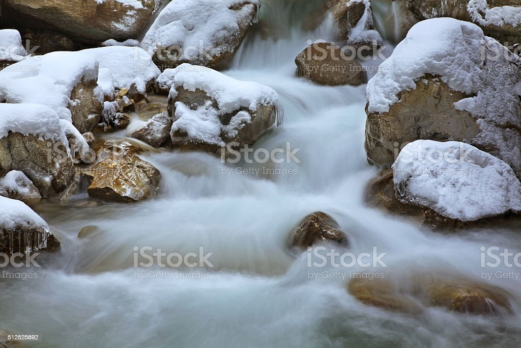 Partnachklamm - Partnach gorge near Garmisch-Partenkirchen. Bavaria. Germany stock photo