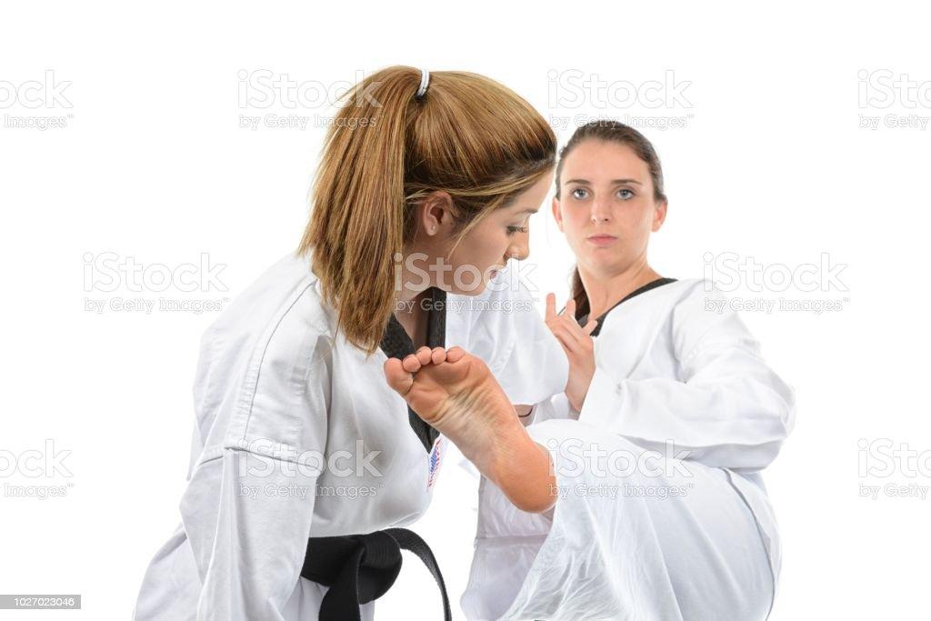 Partner Martial Arts Training stock photo